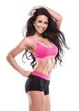 Posing Beautiful Fitness Woman Royalty Free Stock Photography