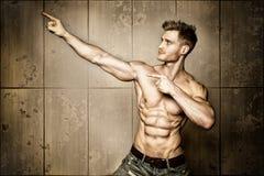 Posing body builder Royalty Free Stock Photography