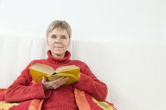 Posing with book Royalty Free Stock Images