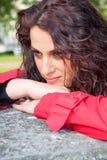 Posing brunette Stock Image