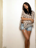 Posing Brunette Woman Stock Images