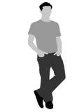 Posing cool man stock illustration