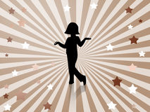 Posing-dancing girl background Royalty Free Stock Image