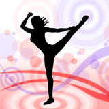 Posing Dancing Represents Yoga Pose And Relaxing Royalty Free Stock Photography