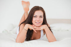 Posing dark-haired young woman Royalty Free Stock Photos