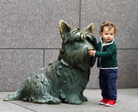Posing with FDR's Dog Fala. Stock Image