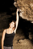 Posing female climber Royalty Free Stock Photos