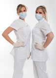 Posing female dentists Royalty Free Stock Images