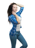 Posing girl in casual clothing Stock Photo