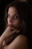 Posing girl in studio Royalty Free Stock Image