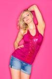 Posing girl on studio Royalty Free Stock Photo