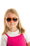 Posing girl with sunglasses Stock Photos