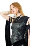 Posing gothic girl. Isolated on white Stock Photography