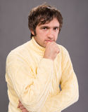 Posing handsome man in sweater Royalty Free Stock Photo