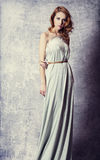 posing in a long dress Royalty Free Stock Photo