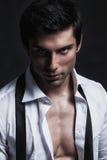 Posing modèle masculin beau Images stock