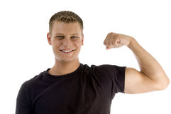 Posing muscular man Royalty Free Stock Photography