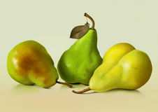 Posing Pears Royalty Free Stock Photography