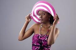 Posing in pink Stock Image