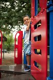 Posing On The Playground Royalty Free Stock Photo