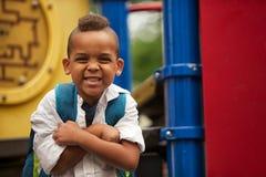 Posing On The Playground Royalty Free Stock Photo