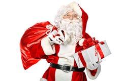 Posing santa Royalty Free Stock Image