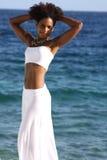 Posing at the sea Royalty Free Stock Photos