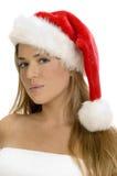 Posing sexy lady with santa cap Royalty Free Stock Photos