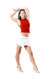 Posing in short skirt. Teenage girl posing in short skirt Stock Image