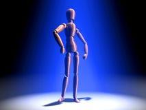 Posing in the Spotlight - blue light Royalty Free Stock Photos