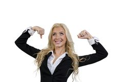 Posing strong female Royalty Free Stock Photos