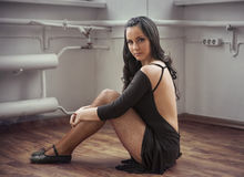 Posing in studio Stock Photos