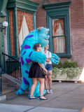 Posing with Sully, Hollywood Studios, Disneyland Stock Images