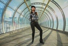 Posing in tunnel Stock Photos