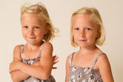 Posing twins Stock Photography