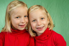 Posing twins Royalty Free Stock Photo
