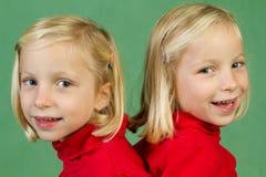 Posing twins Stock Photo