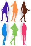 Posing women illustration Royalty Free Stock Photography
