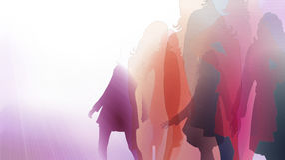 Posing women illustration Royalty Free Stock Image