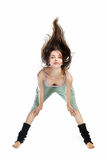 Posing young dancer isolated on white Stock Images