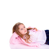 Posing young girl. Young girl on white background Royalty Free Stock Image