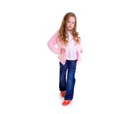 Posing young girl. Young girl on white background Stock Photos
