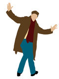 Posing young man with coat Stock Photography