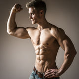Posing body builder Royalty Free Stock Image