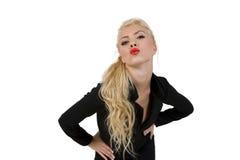 Posing young woman stock photos