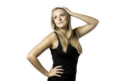 Posing young woman Stock Image