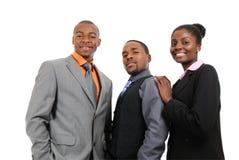 Posição da equipe do negócio do americano africano Fotografia de Stock Royalty Free