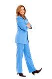 Posição da mulher de negócio Fotografia de Stock