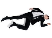 Posição do sono do homem de negócio Fotografia de Stock Royalty Free