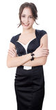 Posição e sorriso novos da mulher de negócio Fotos de Stock